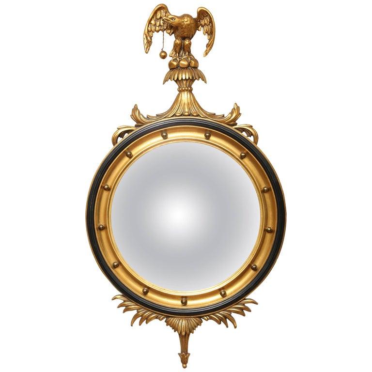 Vintage Italian Convex Eagle Mirror