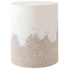Drum, Cream Cement and Porcelain by Fernando Mastrangelo