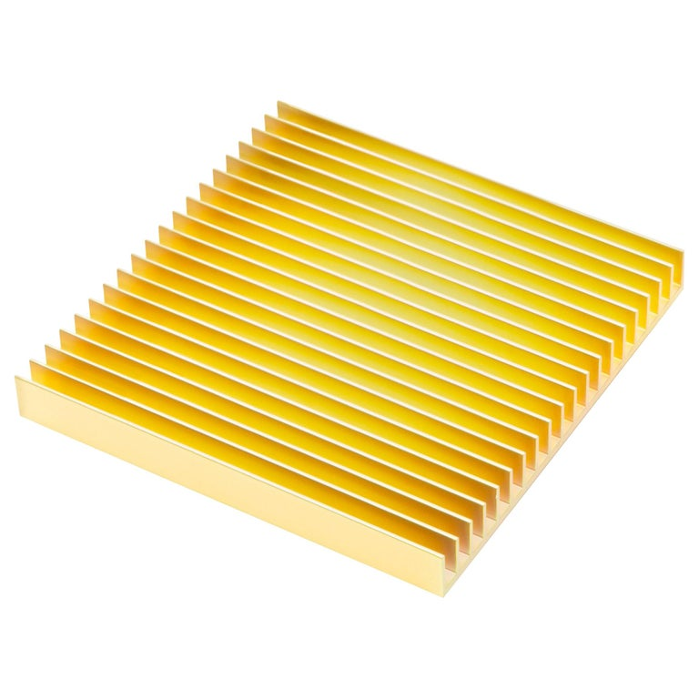 Fin Trivets from Souda, Gold, in Stock For Sale