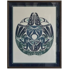 Large Framed First Nations Print by Susan A. Point