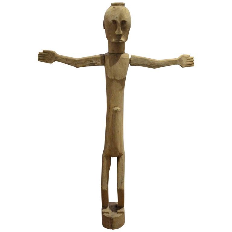 Hand-Carved Teak Wood Statue
