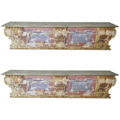 Pair of 19th Century Italian Painted Benches
