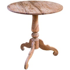 Large Belgian Reclaimed Wood Pedestal Table