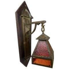 1920 Arts & Crafts Copper/Brass Large Sconce