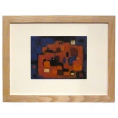Mid-Century German Abstract Acrylic Painting, 1950s