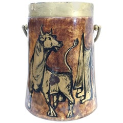 1950s Hand-Painted Ice Bucket by Aldo Tura Macabo Cusano
