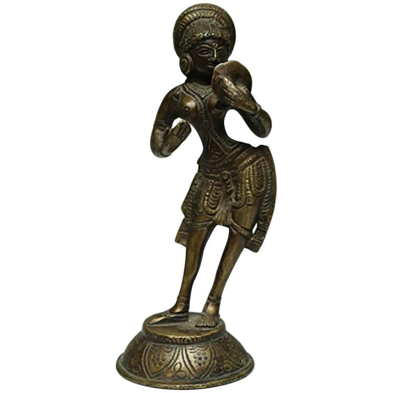 Vintage Bronze Indian Diety, circa 1960s-1970s For Sale