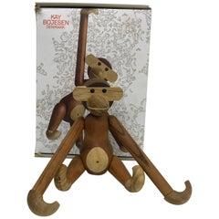 Teak and Ebony Articulated Monkey by Kay Bojensen