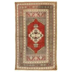 Vintage Turkish Oushak Accent Rug for Kitchen, Foyer, Bathroom or Entry Rug