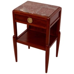 Nightstand in Mahogany, Early Art Deco, France 1920s