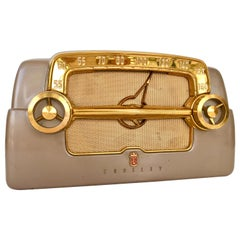 "1950s Art Deco ""Dashboard"" Tube Electronic Am Radio by Crosley"
