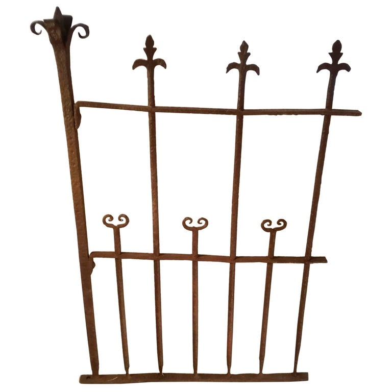 16th Century Wrought Iron Grotto Gate Hand Forget Early Renaissance Motiven