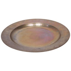 Large Round Tin Dish from the 1820s