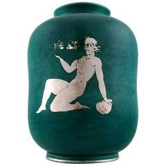 Wilhelm Kåge, Gustavsberg, Argenta Art Deco Ceramic Vase