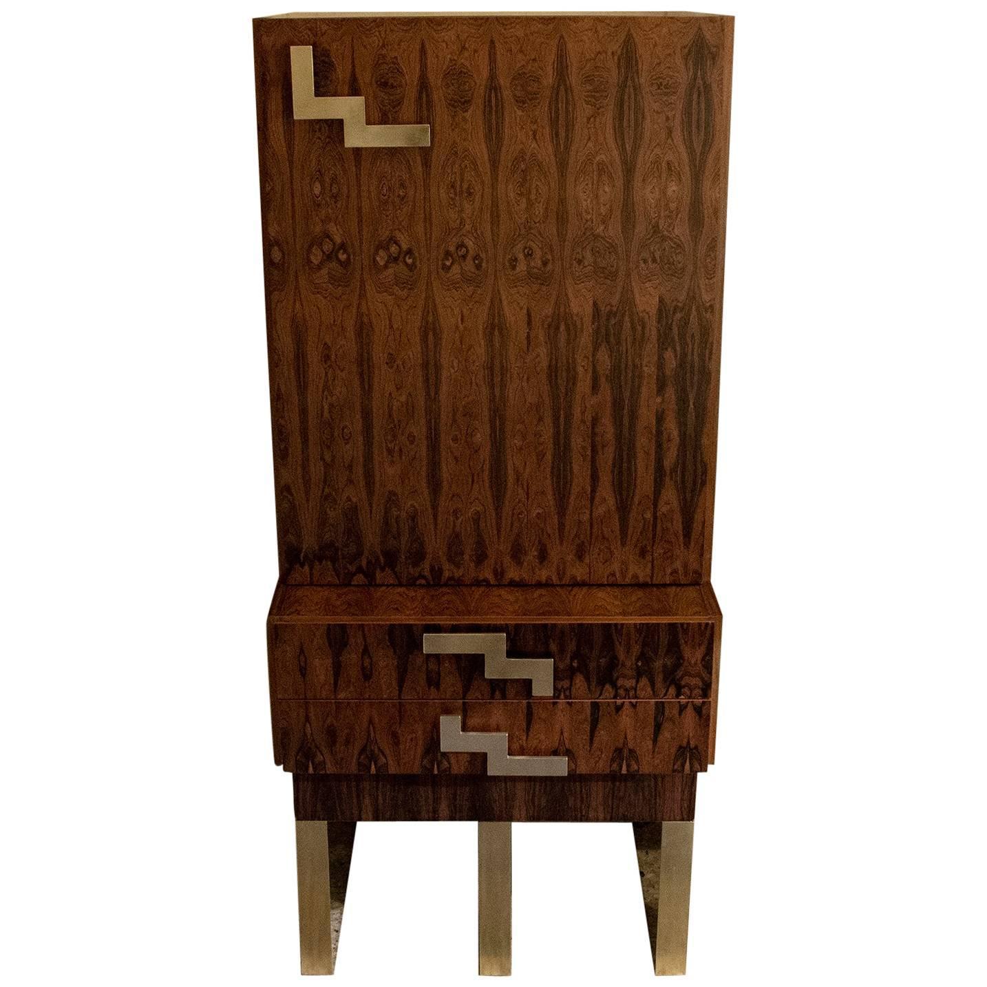 Genial Tall Cabinet/Dry Bar Palisander, France, 1960s