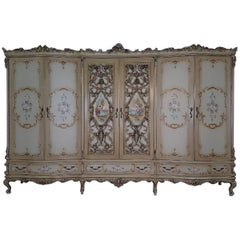 20th Century Italian Venetian Baroque Style and Painted Bedroom Set