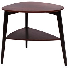Side Table in Dark Wood of Beautiful Danish Design from the 1960s