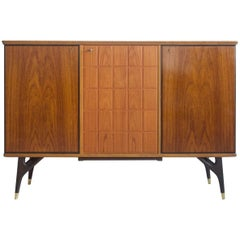 Beech and Teak Veneered Sideboard by Tabergs Mobler, circa 1950-1960