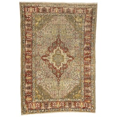 Modern Rustic Style Vintage Turkish Sivas Rug, Entry or Foyer Rug