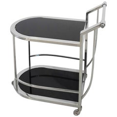 Compact Bar Cart with Bauhaus Design