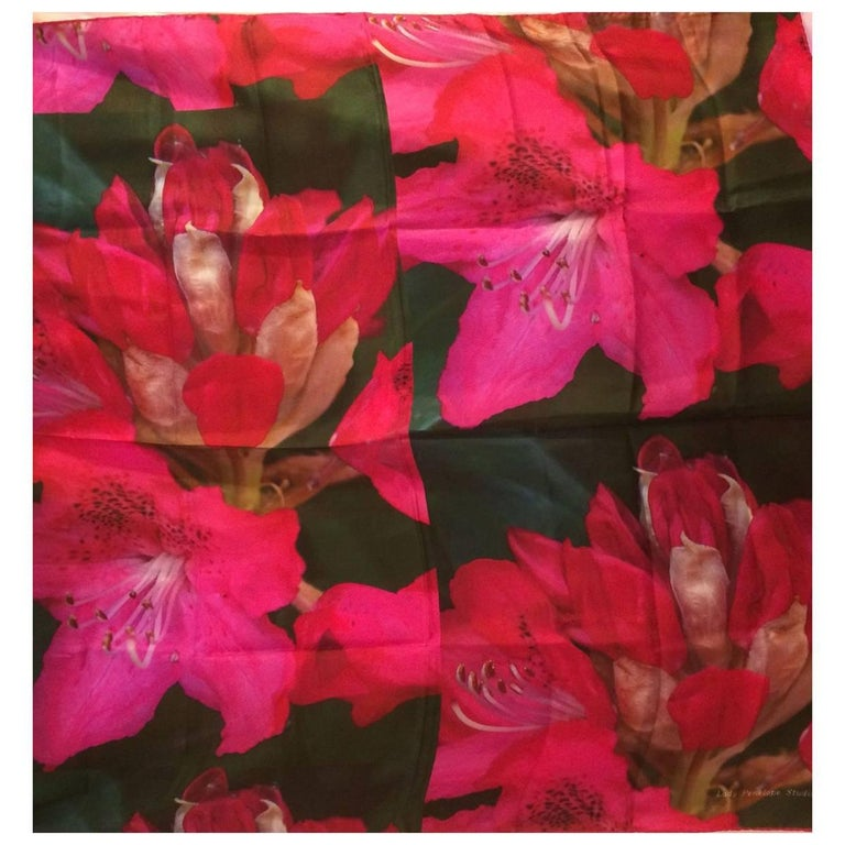 Pink Rhodedendron Silk Scarf or Wall Hanging