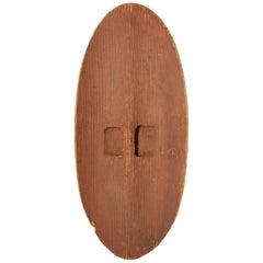 Large Aboriginal Central Desert Bean Wood Shield