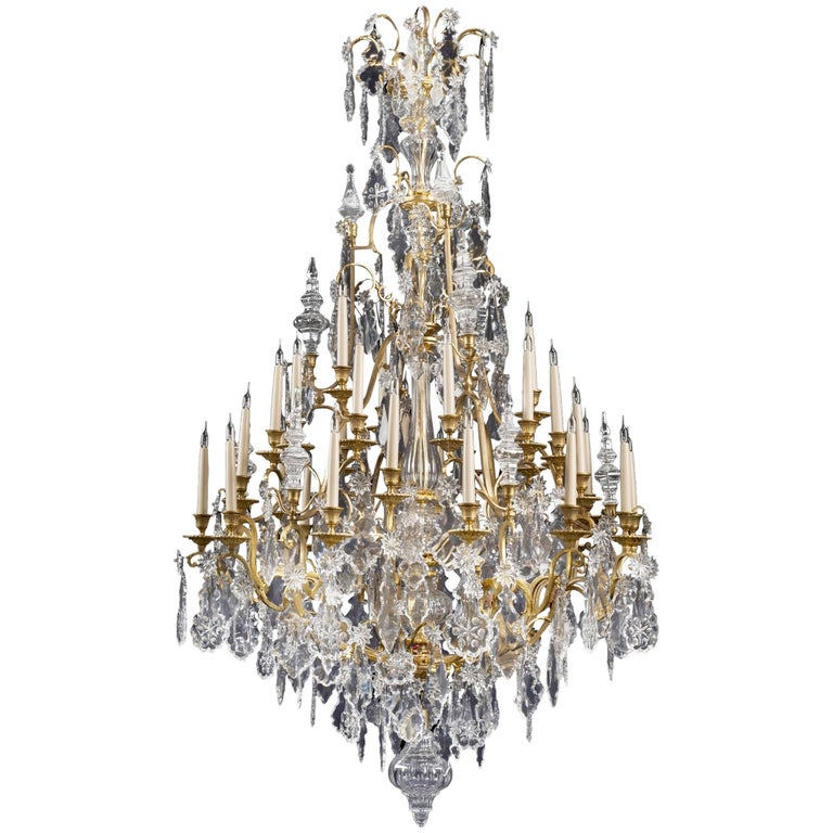 Louis XV Style Thirty-Three-Light Cage Chandelier