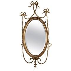19th Century Adam Style Gilt Gesso Wall Mirror