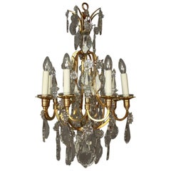 Small Louis XV Style Eight-Light Chandelier, France, circa 1900