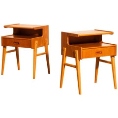 1960s Pair of Teak 'Model C1' Bedside Tables