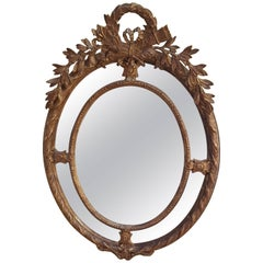 Victorian Giltwood Oval Wall Mirror
