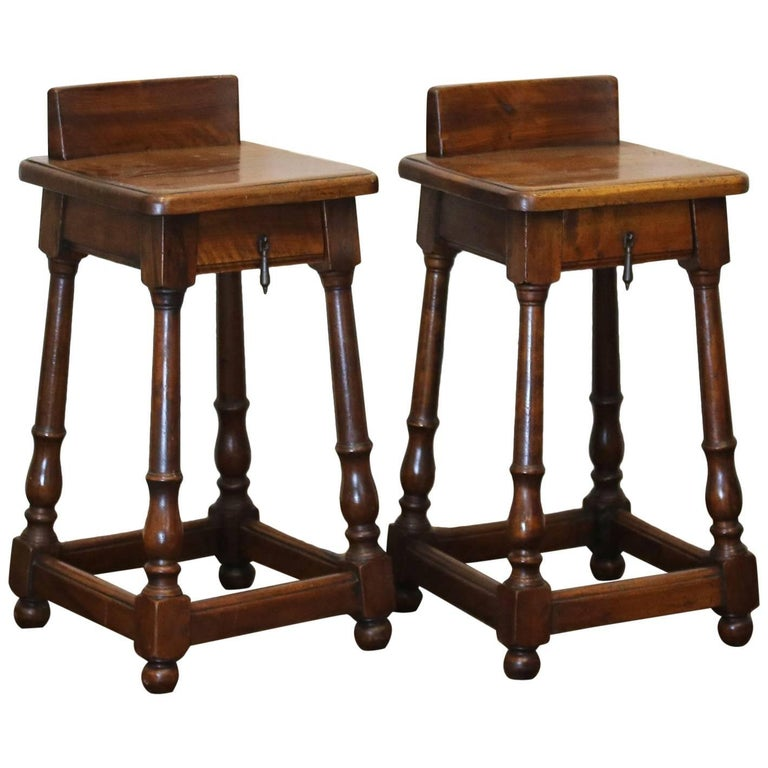 Pair of Walnut Bedside Tables - PBT3 For Sale