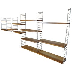 Extra Large Retro Vintage Shelving Unit by Nisse Strinning for String, 1960s