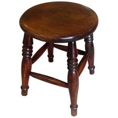Mid-19th Century Elm Stool or Stand North East Yorkshire English Maker