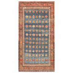 Antique Light Blue East Turkestan Khotan Rug