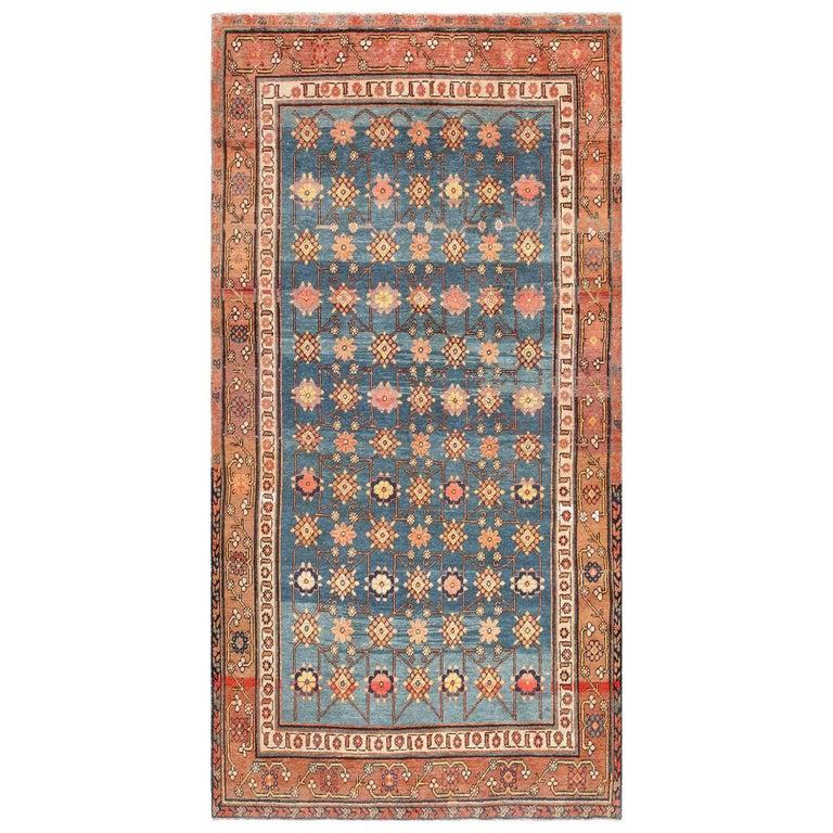 Antique Light Blue East Turkestan Khotan Rug For Sale
