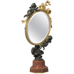 Dressing Table Mirror Supported by Playful Putti