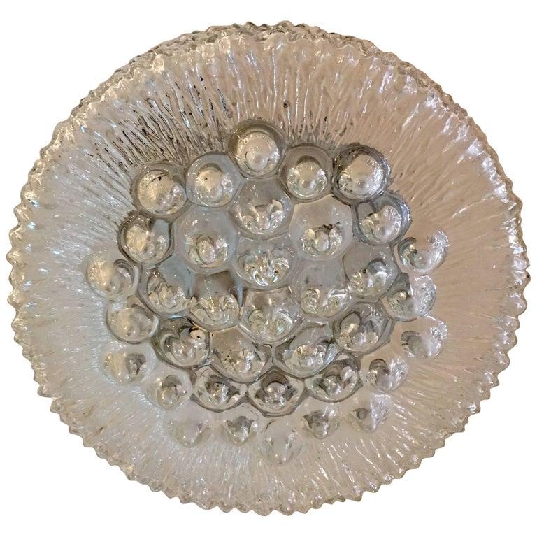 Limburg Sculptural Glass 1960s Flush Light
