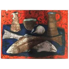 Still Life Ceramic Relief