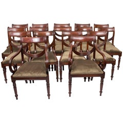 Set of 16 Regency Style Mahogany Swag Back Dining Chairs