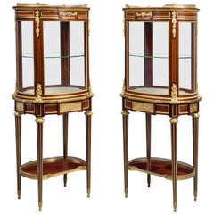 Pair of Louis XVI Style Vitrines de Milieu by Paul Sormani