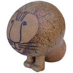 Midcentury Lion Sculpture by Lisa Larson for Gustavsberg
