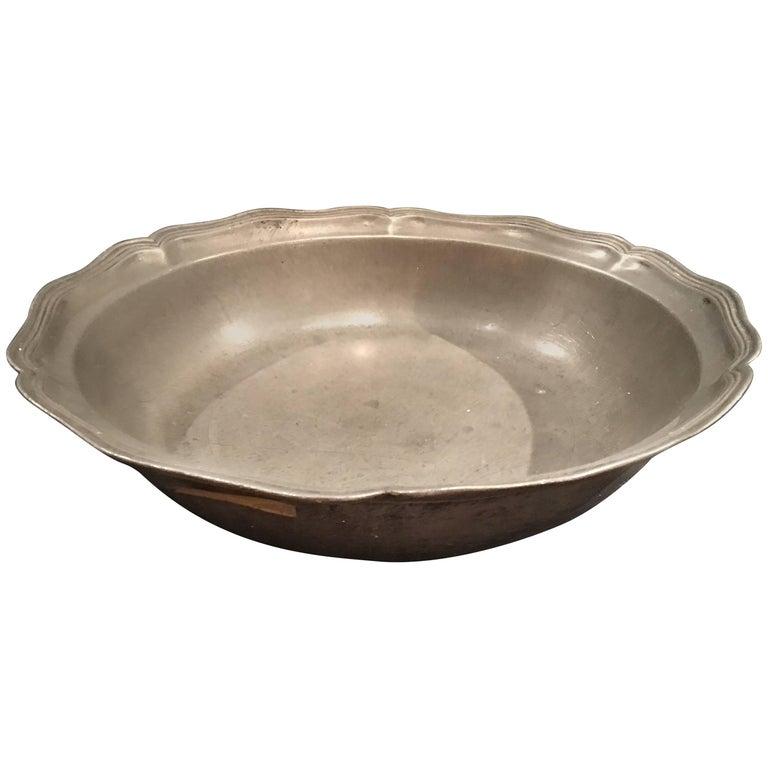 English Pewter Serving Bowl, 19th Century