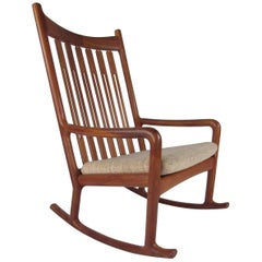 Mid-Century Modern Jacob Kjaer Teak Rocking Chair