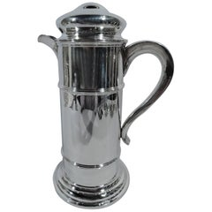 Modern Sterling Silver Silo Shaker for Industrial Strength Cocktails