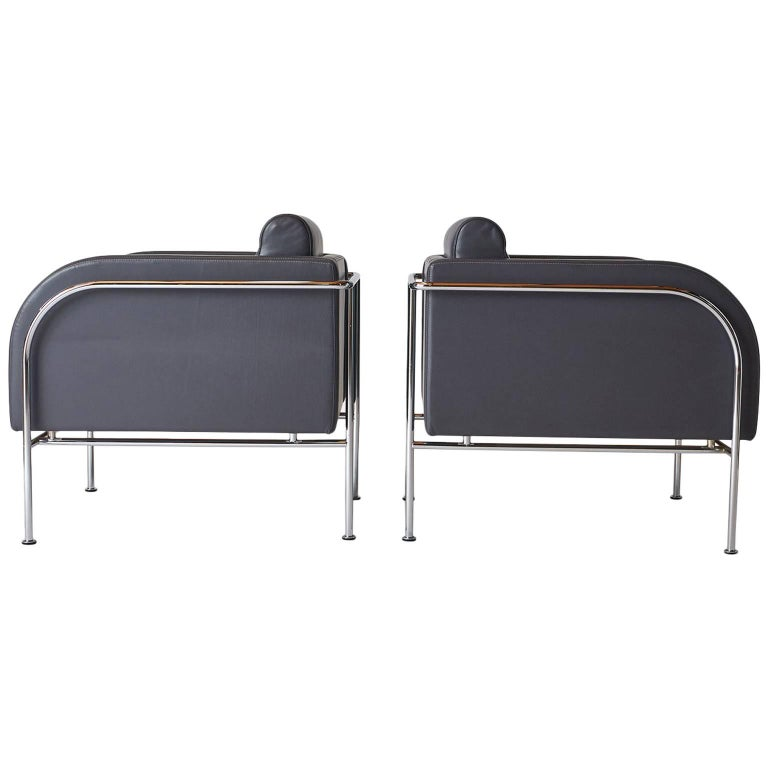 Pair of Lounge Chairs by Friis & Moltke For Sale