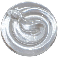 Tiffany & Co. Coiled Snake Crystal Paperweight
