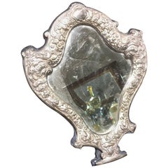 English Sterling Embossed Vanity Mirror