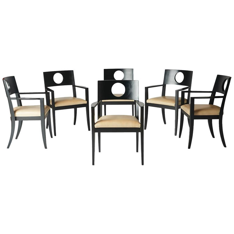 Set of Six Dining Armchairs by Michael Graves For Sale