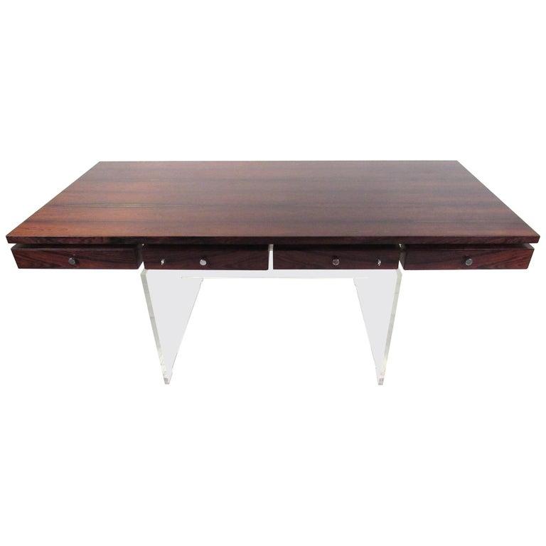Danish Modern Rosewood Desk by Poul Norreklit